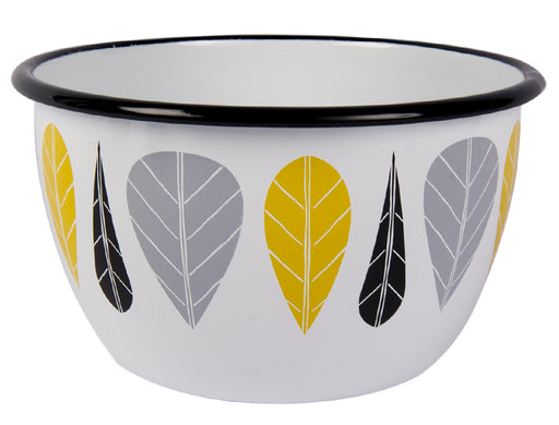 Muurla Leaves Enamel bowl 2 l
