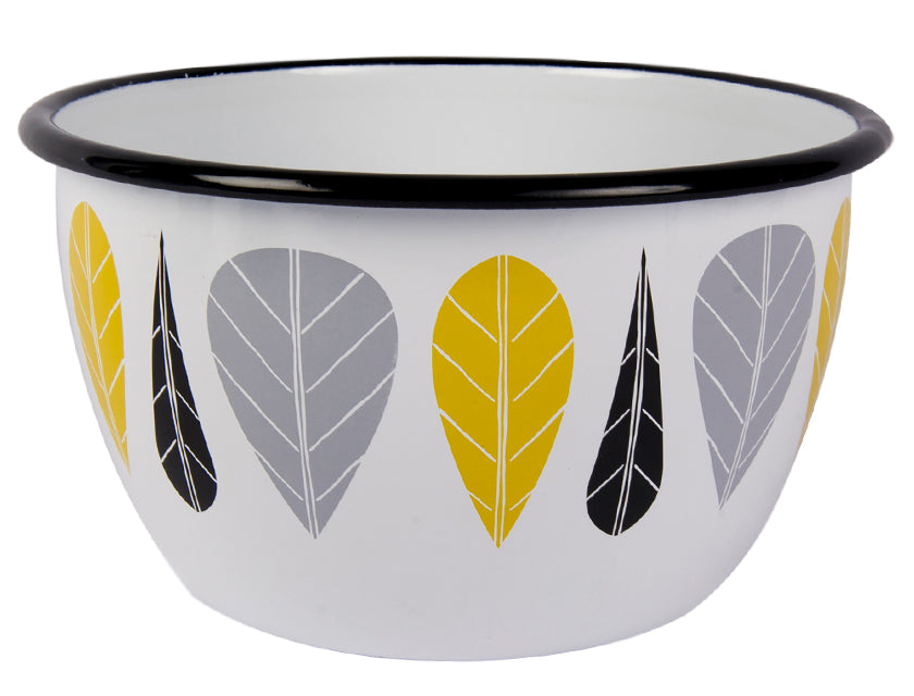 Muurla Leaves Enamel bowl 6 dl