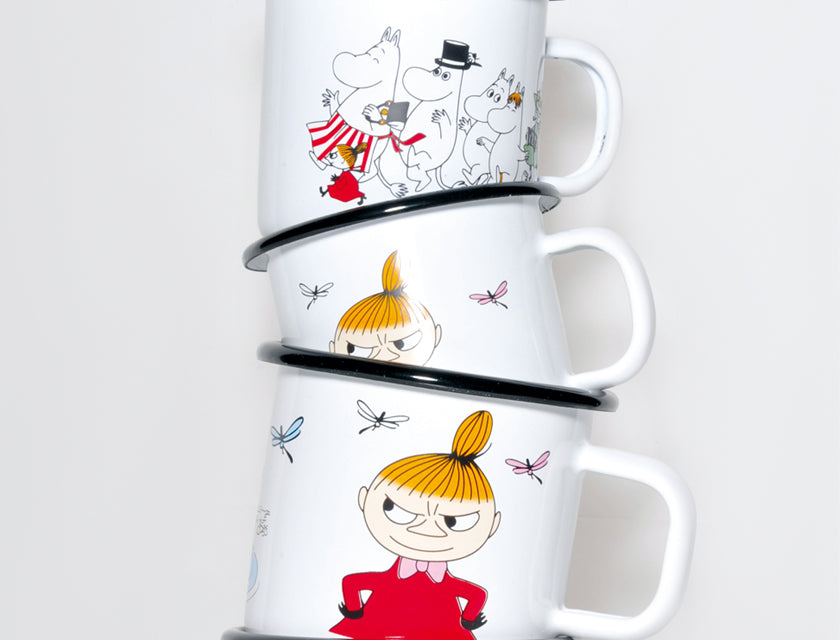 Muurla Moomin Enamel mug 2.5dl Little My