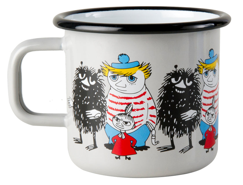 Muurla Moomin Enamel mug 3.7dl grey Stinky & Little My & Tooticky