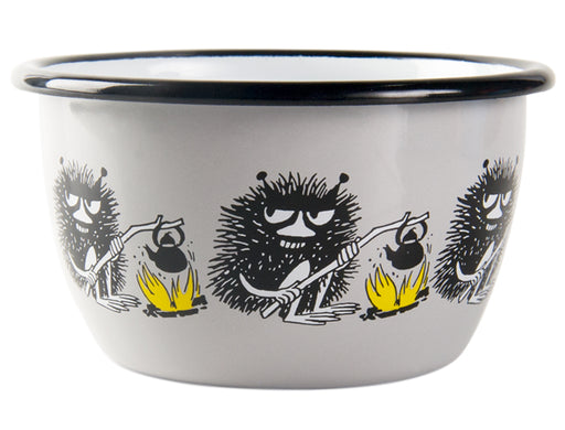 Muurla Moomin Enamel bowl grey 3dl Stinky Friends