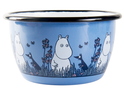 Muurla Moomin Enamel bowl 3dl blue Moomin Friends