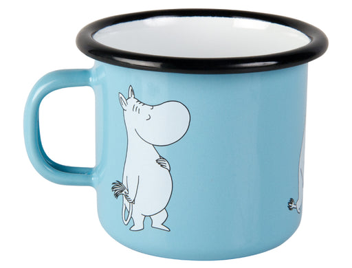 Muurla Moomin Enamel mug 2.5dl light blue Moomin retro