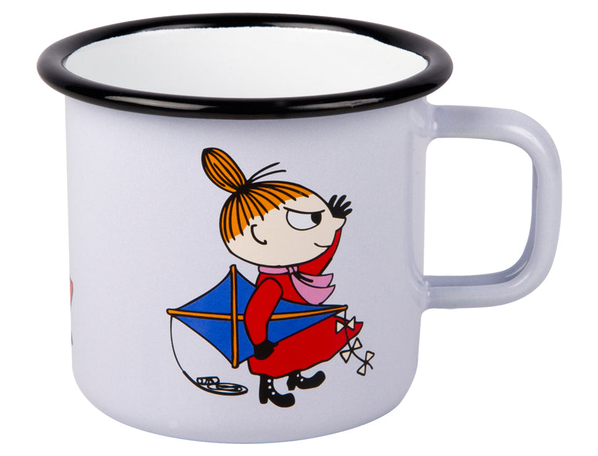 Muurla Moomin Enamel mug 2.5dl grey Little My