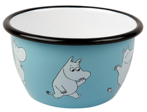 Muurla Moomin Enamel bowl 6dl light blue Moomin retro