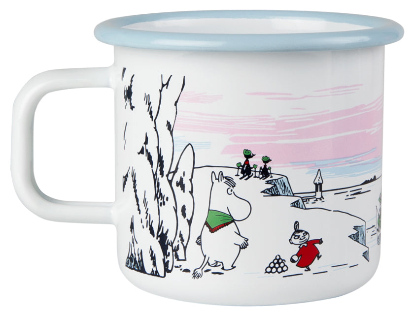 Muurla Moomin Enamel mug 3.7dl black Moomin Winter Time