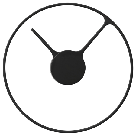 Stelton Time clock 30 cm large black