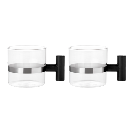 T Cup (2 pcs.) glass mugs