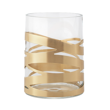 Tangle vase - brass