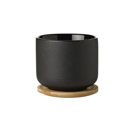 Stelton Theo Tea mug with lid/coaster