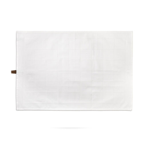 Tea towel, White