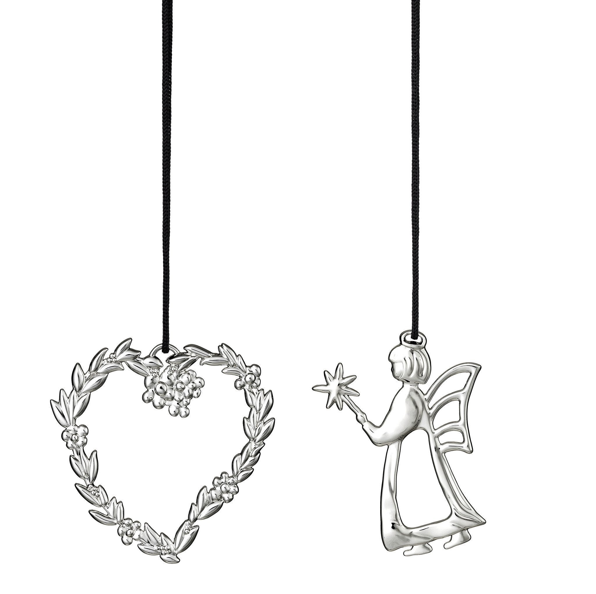Flower Heart And Angel, Silver