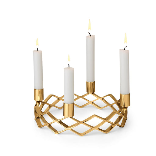 Advent Candle Holder, Gold