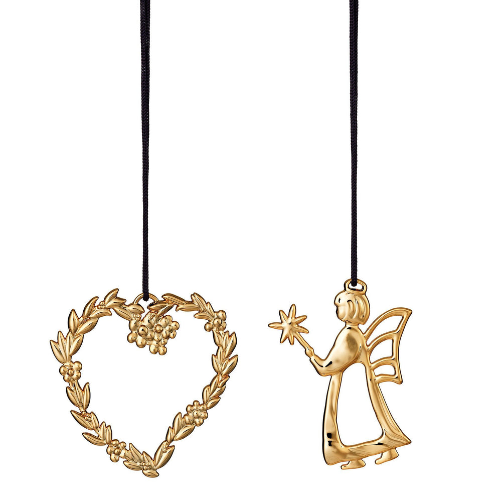 Flower Heart And Angel, Gold