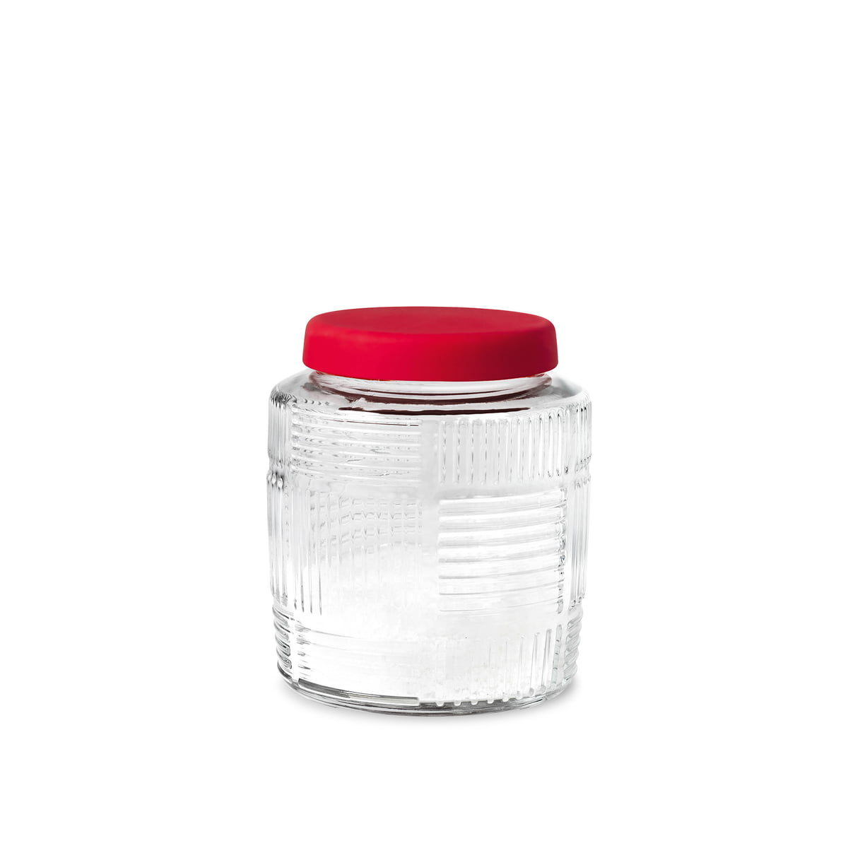 Storage Jar - Red lid, 2.1 Qt