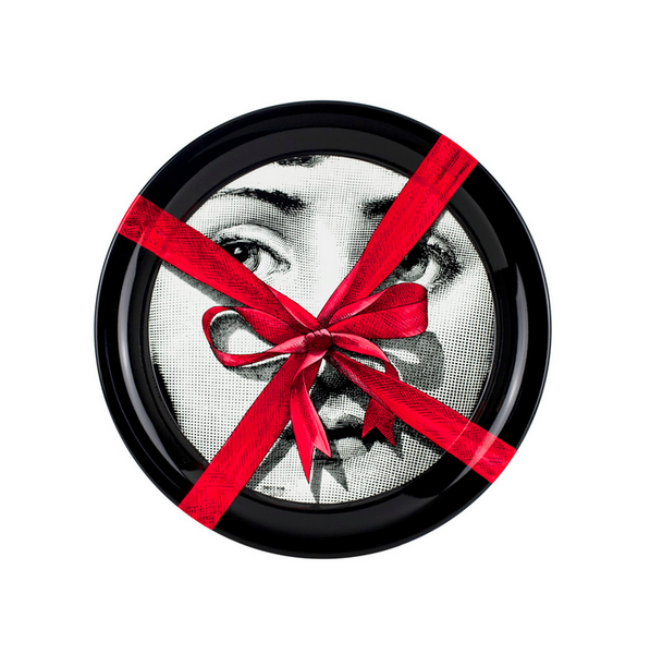 Fornasetti tray round 40cm - Red gift