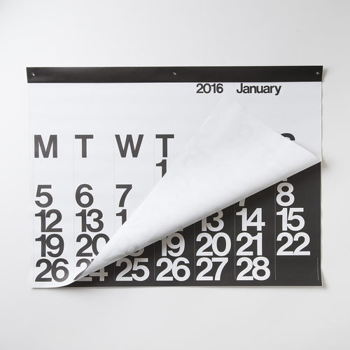 Stendig Calendar 2018 by Massimo Vigenelli Large Black and White