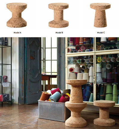 Jasper Morrison Cork stool by Vitra