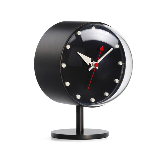 Night desk clock black by George Nelson for Vitra