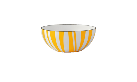 Cathrineholm enamel bowl 14cm stripes red