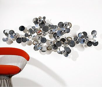 Curtis Jere metal wall art Silver Raindrops