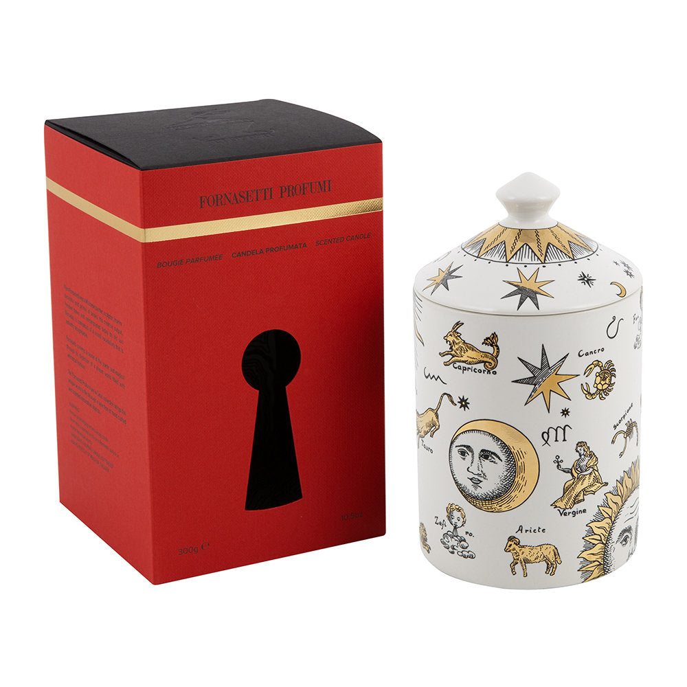Fornasetti candle 300g Astronomici Bianco Candle - Gold - Otto