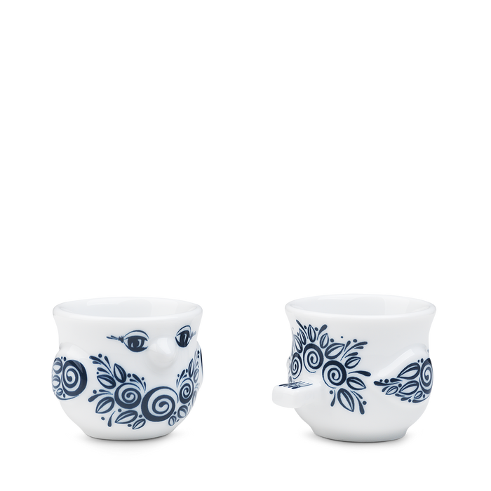 Bjørn Wiinblad Birds Birds Egg cup blue H4,5 2 pcs.
