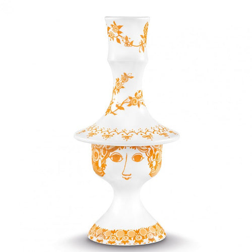Bjorn Wiinblad Rosalinde candle holder 17cm orange