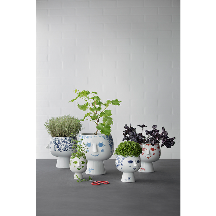Bjørn Wiinblad  Pot plant holder with base Blue, 14,3 cm
