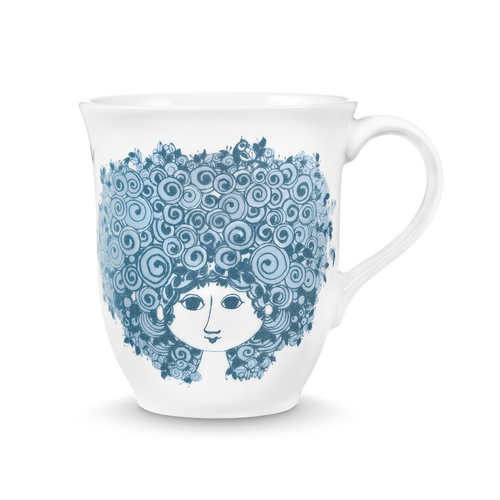 Bjørn Wiinblad  Rosalinde Mug Dusty Blue, 35 cl