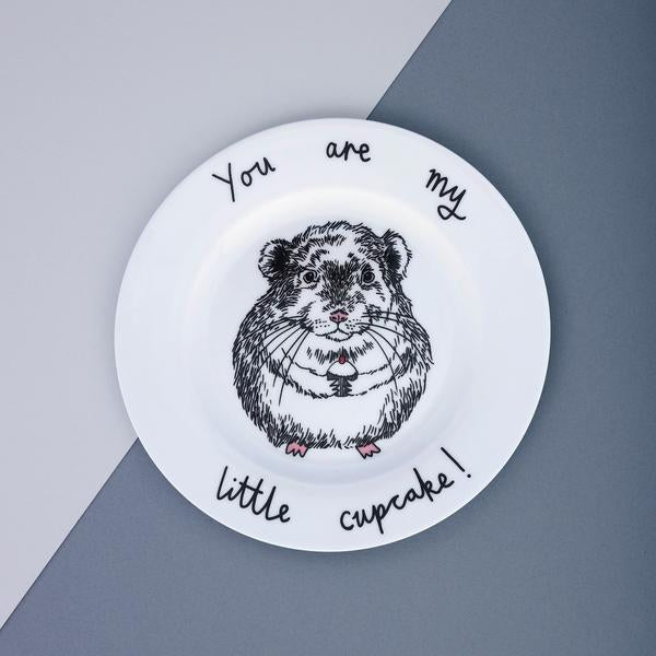 Chinchilla Cupcake Side Plate
