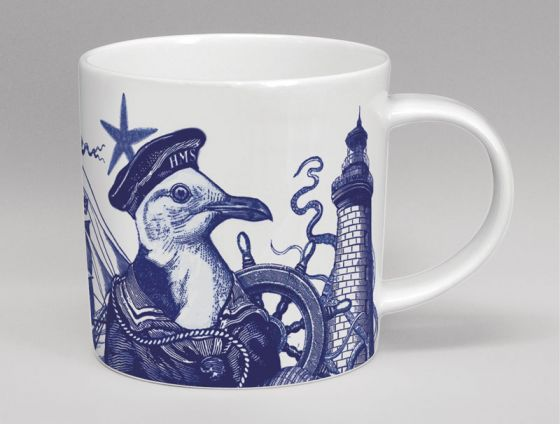 Cobaltic Sea - Seagull Bone China Mug