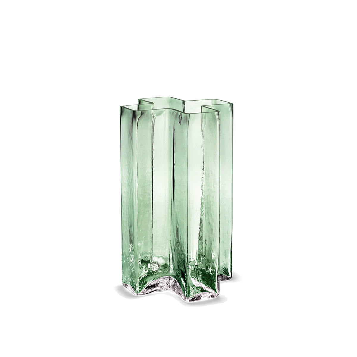 Holmegaard Crosses Vase Green, 18 cm