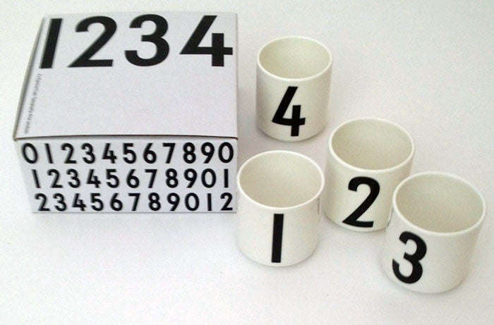 Design Letters Espresso cups set Black