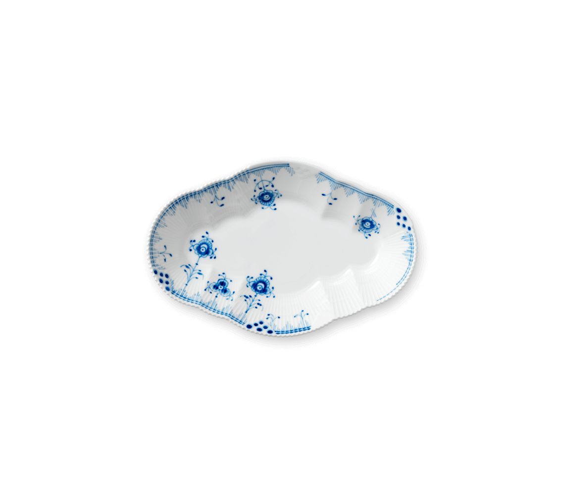Blue Elements oval accent dish 9""