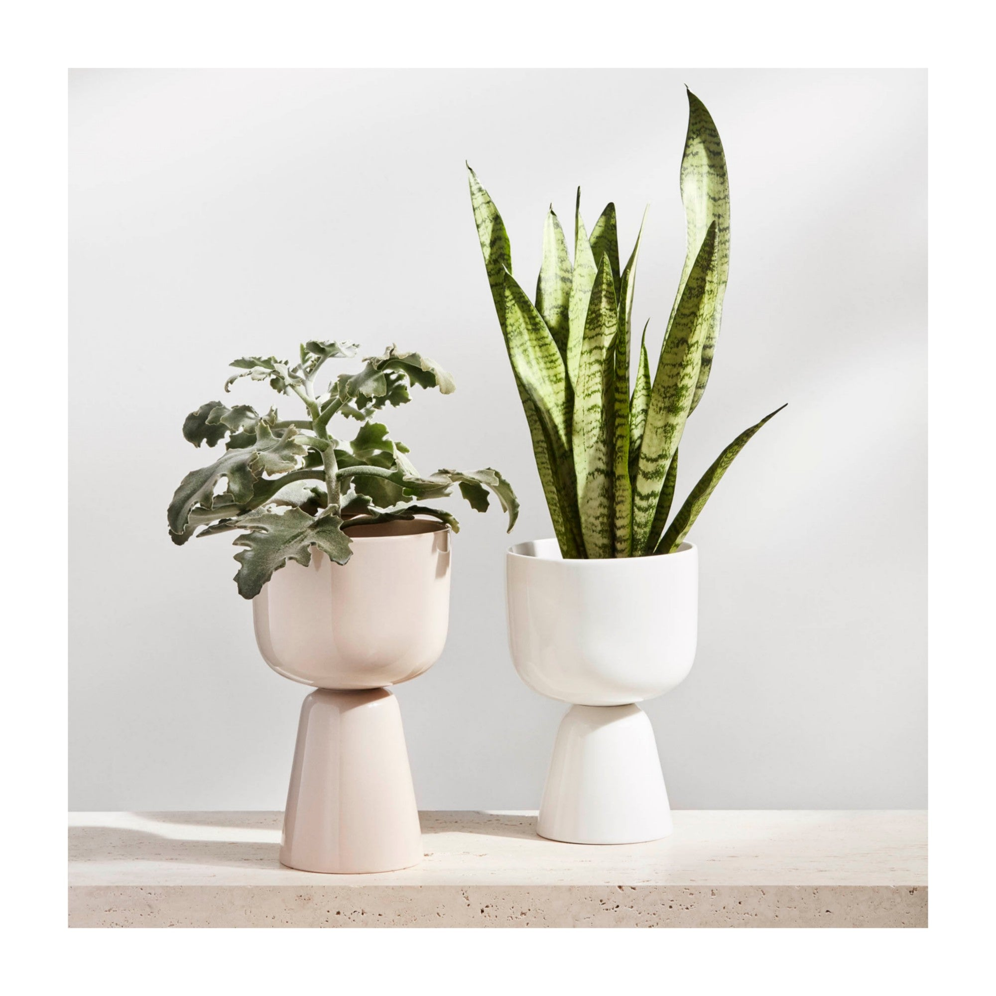 "Nappula plant pot 230 x 155 mm / 9 X 6"" White"