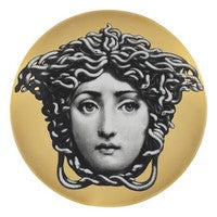 Gold Fornasetti plate Theme & Variations series no g217