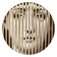 Gold Fornasetti plate Theme & Variations series no g034