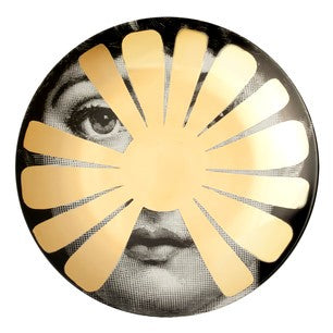 Gold Fornasetti plate Theme & Variations series no g037
