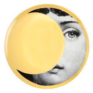 Gold Fornasetti plate Theme & Variations series no g039