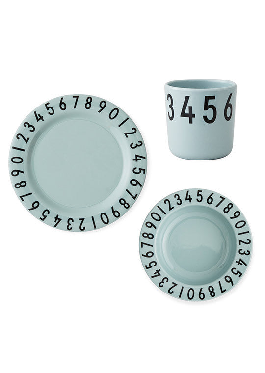 Design Letters Gift box The numbers melamine pack Green