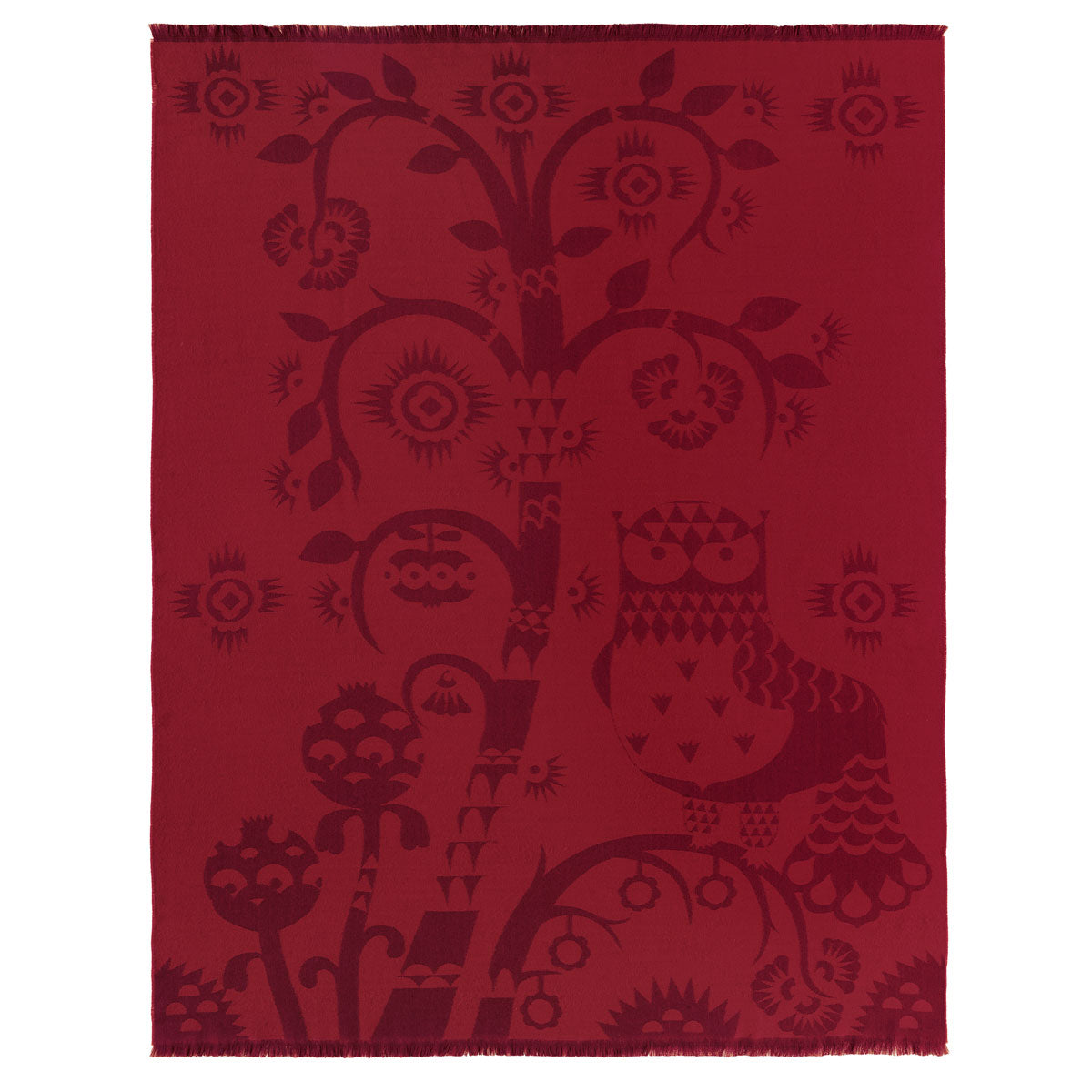 iittala blanket Taika red merino wool