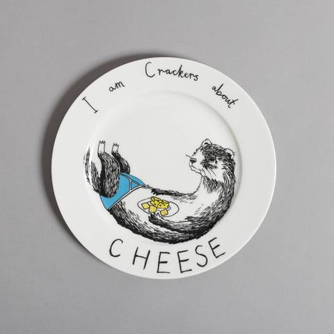 'Cheese Weasel' Side Plate