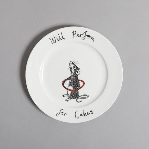 'Will Perform For Cakes' Side Plate