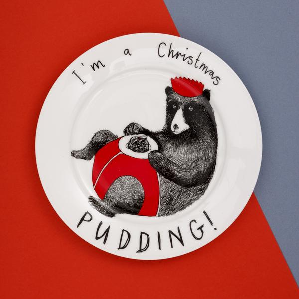 'I'm a Christmas Pudding' Side Plate