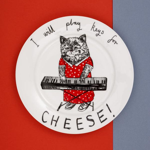 'Keys for Cheese' Side Plate