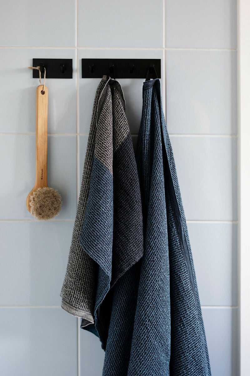 TERVA towel 65x130cm white-rainy blue