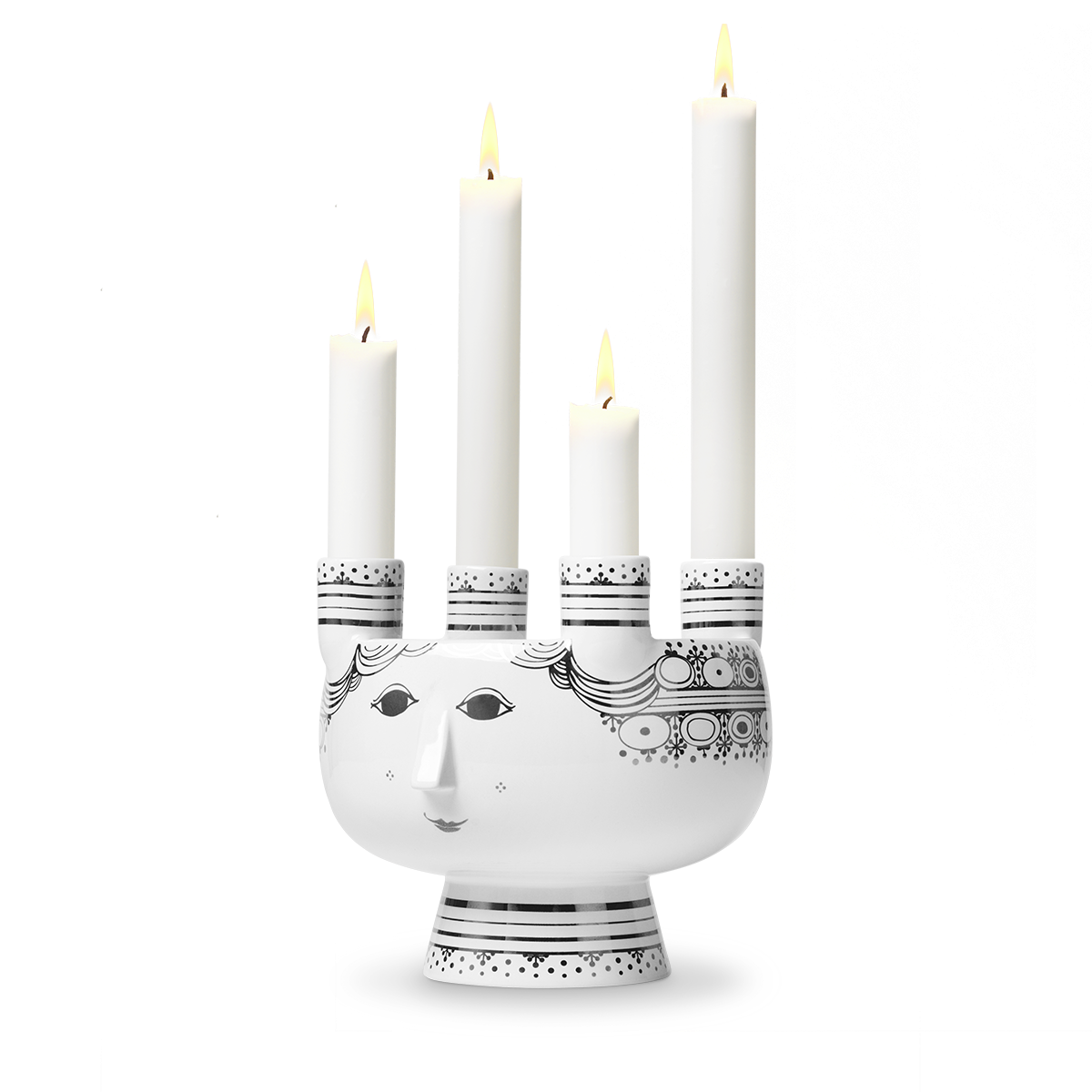 Bjørn Wiinblad Lucia Advent Candle Holder Silver, 15 cm