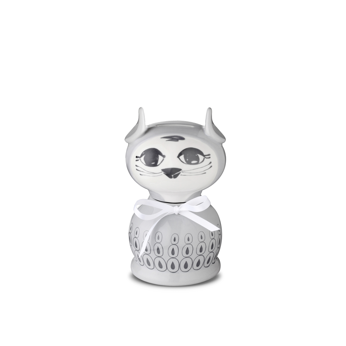 Bjørn Wiinblad Miranda  Miranda cat money box Grey, 10,5 cm