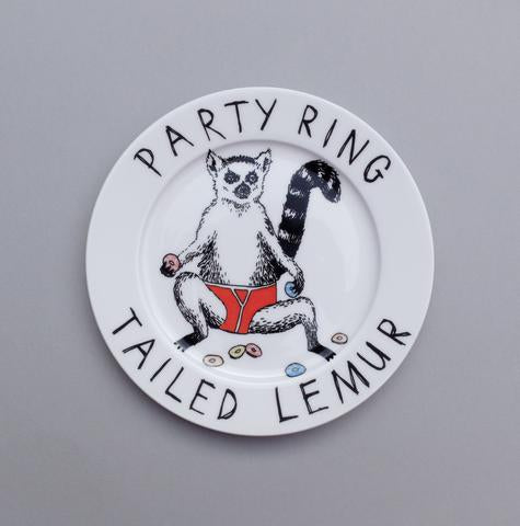 'Party Ring tailed Lemur' side plate
